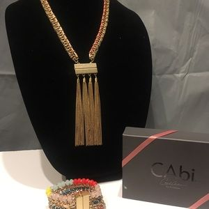CAbi True colors tassel necklace and bracelet